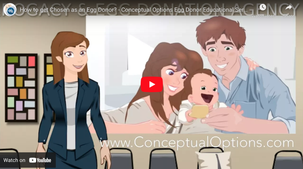 How to get chosen as an Egg Donor? Egg Donor Educational Series YouTube ScreenShot