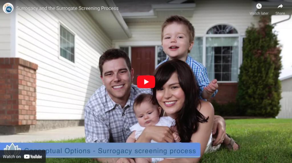 Surrogacy and the Surrogate Screening Process YouTube ScreenShot