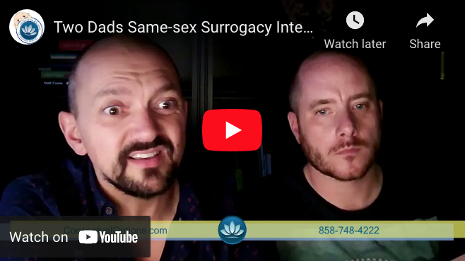 Two Dads Same-sex Surrogacy Interview | Conceptual Options & Two Dads YouTube ScreenShot